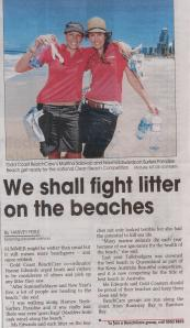 Martina and I spreading the BeachCare word