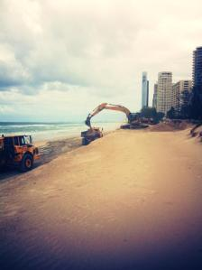 sand extraction from the dunes along the northern beaches of Surfers Paradise