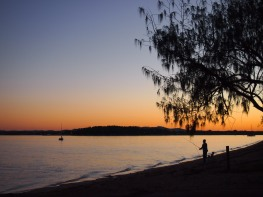 Sunset - enjoying much of what Coochiemudlo Island offers