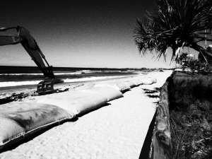 Sand bags along Surfers Paradise beach