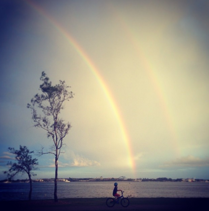 Rainbow x 2. #saveourspit #goldcoast #nay_edwards