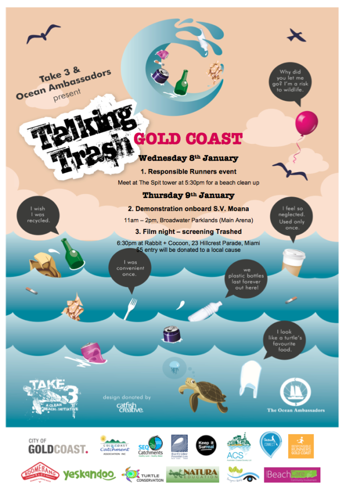 TALKING TRASH POSTER Gold Coast 8_9.1.14