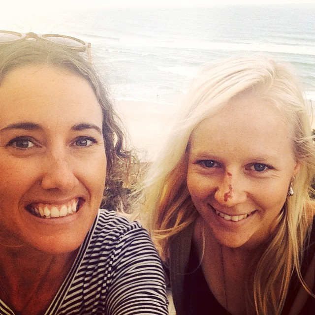 Jordyn De Boer and myself chilling out last summer. O Kirra Hill puts on a good sunset!