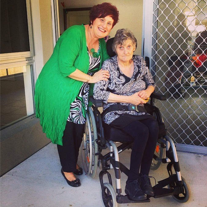 My mum and aunty at the launch of my aunty's home on the Gold Coast