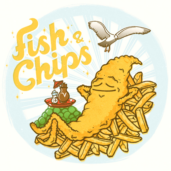Fish and chips (source: My Heart Illustration)