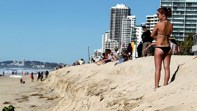 Gold Coast's beaches are at risk if you vote for the wrong coastal policy. (photo source: The Herald Sun)