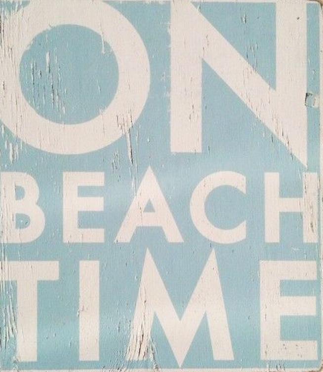 On Beach Time, I like. (photo source: pinterest)